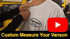How to custom measure your Vanson suit
