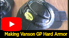 Construction of our current generation of hard armor, the fruit of extensive racetrack experience, is the patented Vanson Grand Prix Floating Armor System.