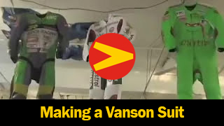 Get an inside look into the way Vanson suits are made to order.