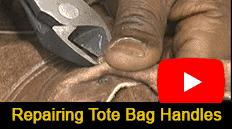 Vanson repairs the handles of a 30+ year old Tote Bag